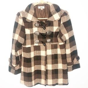 Amy Byer Children's Pea Coat Size Large Brown